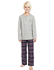 Autograph Pure Cotton Checked Pyjamas