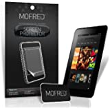 "MOFRED® 6 Pack Screen Protector Value Pack For Kindle Fire HD 7"" (Previous Generation Model) with Cleaning Cloth And Application Card"