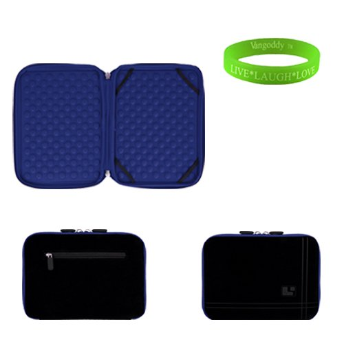 13 inch Baleful and Ocean Blue Laptop Sleeve for the Toshiba Hanger-on U840 Ultrabook with a small pocket. Shock absorbent air pocket padding to prevent minor damages to your Ultrabook. + Vangoddy Spend Laugh Love Bracelet