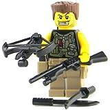 Zombie Hunter (SKU66)- Battle Brick Custom Minifigure