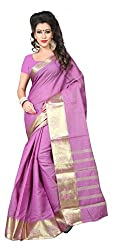 Sanju Radiant Orchid Art Silk Traditional Wear Saree for Women