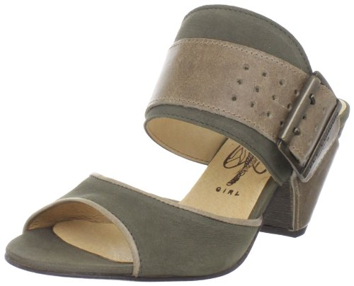 Fly London Women's Guess Khaki/Light Grey Open Toe P142151003 6 UK