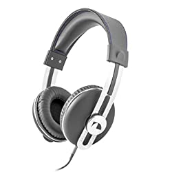 Nakamichi Over the Ear Headphone - Retail Packaging - Gray with Blue Thread