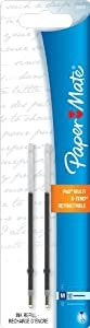 Paper Mate G-Force, Titanium and X-Tend Medium Tip Blue Lubriglide Ink Pen Refills, Pack of 2 (5640336PP)   Office Gem