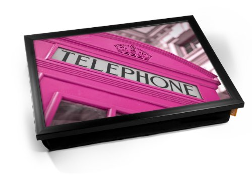 Pink Telephone Box London Cushion