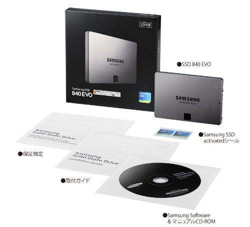 Samsung SSD840EVO ベーシックキット250GB MZ-7TE250B/IT (国内正規代理店 ITGマーケティング取扱い品)