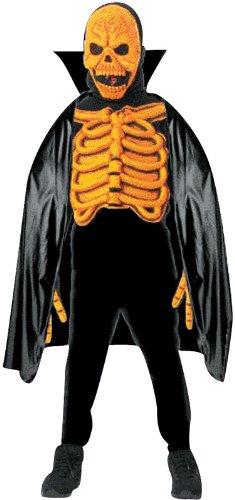 Imagen 1 de Rubie's - Disfraz 3D con careta y capa de esqueleto 3d con careta y capa para niño (de 8/10 años), talla L