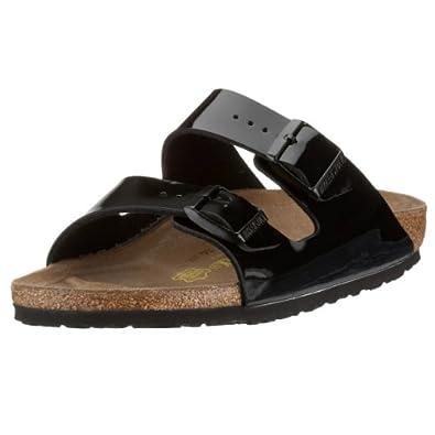 Birkenstock Arizona, Unisex-Adults' Sandals, Black Varnish, 2.5 UK