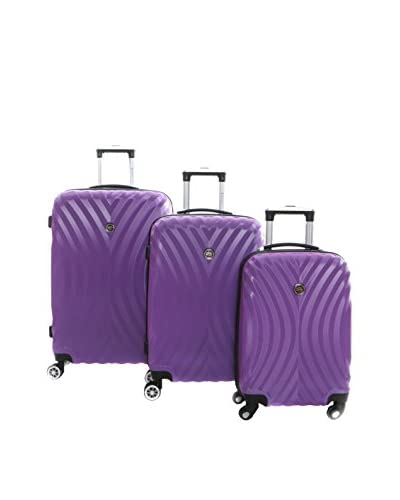 Geographical Norway Set de 3 trolleys rígidos Sheraton Morado