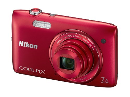 Nikon COOLPIX S3500 Compact Digital Camera - Red (20.1MP, 7x Optical Zoom) 2.7 inch LCD