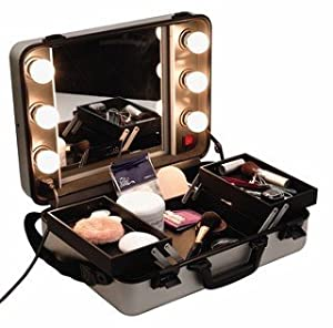 hollywood style mirror light bulbs professional make up beauty case. Black Bedroom Furniture Sets. Home Design Ideas