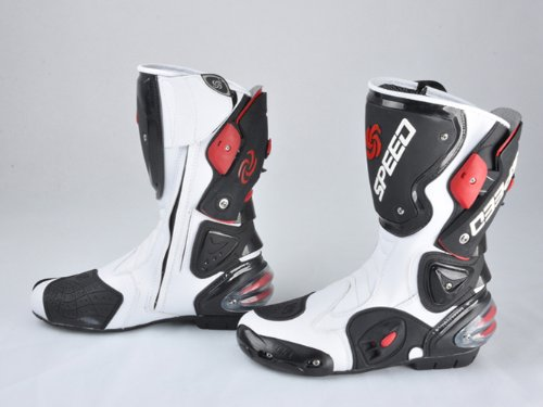 For kawasaki Harley Mens Motorcycle Bike Racing Gear Adult Shoes Speed Boots White US Size 9