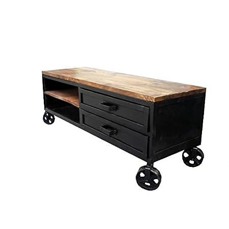 Mueble TV industrial 140sobre ruedas