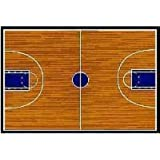 Fun Time Basketball Court 19x29 Play Time Nylon Area Rug GI-10 1929