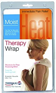 """Thermalon Microwave Activated Moist Heat-Cold Compress Wrap for Back, Neck, Shoulder, Head, Abdomen, 5.5"""" x 18.5"""""""