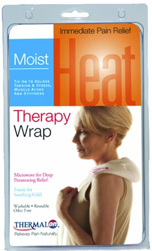 "Thermalon Microwave Activated Moist Heat-Cold Compress Wrap for Back, Neck, Shoulder, Head, Abdomen, 5.5"" x 18.5"""