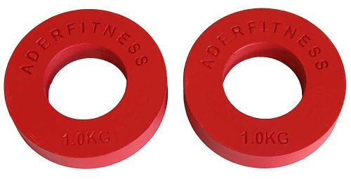 Ader-Olympic-Fractional-Plates-Pair-1-Kg-Red