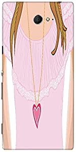 Snoogg Girl With Necklace In Lacy Jacket Designer Protective Back Case Cover ...
