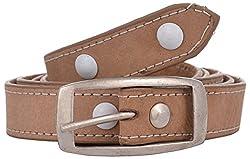 Exotique Women's Leather Belt (BW0005BG_28_Beige)
