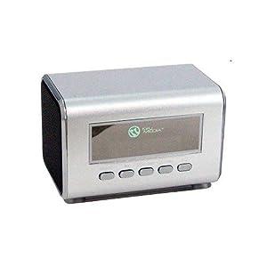 Miniboombox Square 2 Speakers Silver - Mini Boombox