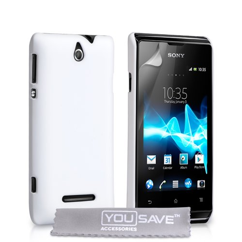 yousave-accessories-hard-hybrid-case-cover-for-sony-xperia-e-white