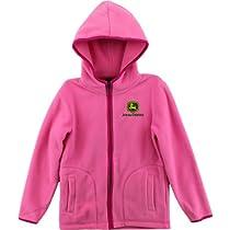"John Deere ""Logo"" Toddler Pink Fleece Jacket (4T)"