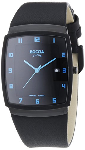 Boccia Titanium Men's Quartz Watch Analogue XL Leather 3541-05
