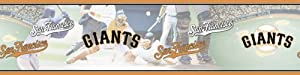 Blue Mountain Wallcoverings 5815423 San Francisco Giants MLB Prepasted Wall Border, 6-Inch by 15-Foot