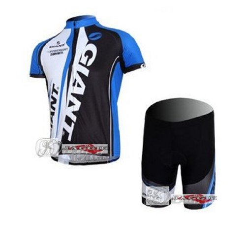 New Arrived!!! Giant Blue Short Sleeve Cycling Wear Clothes Short Sleeve Bicycle/ Bike/ Riding Jerseys+pants/ Size L
