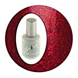 Gellure Hybrid Gel Nail Polish, Santa Baby! Festive Glitter Red. From The Christmas Collection.