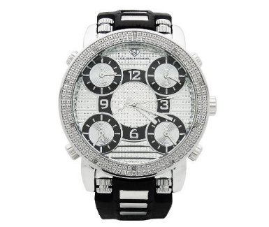 diamond watches super techno mens diamond five time zone watch gm5 50y review