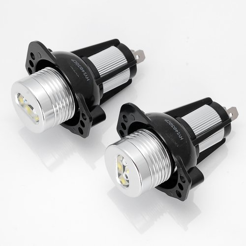 2X High Power 7000K Xenon White 6W Angel Eyes Halo Ring Led Marker Light Bulbs Headlight Replacement For 06-08 Bmw E90 Sedan E91 Wagon 3 Series