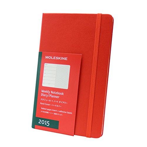 モレスキン 2015年版手帳 スケジュールノート ラージ レッド DHR12WN3U