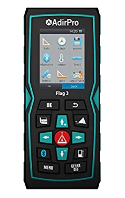 AdirPro Flag 3 Laser Distance Measurer Measures up to 328' with Bluetooth Technology