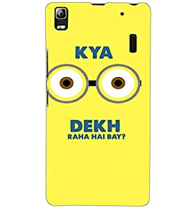 LENOVO A 7000 TURBO KYA DEKH Back Cover by PRINTSWAG