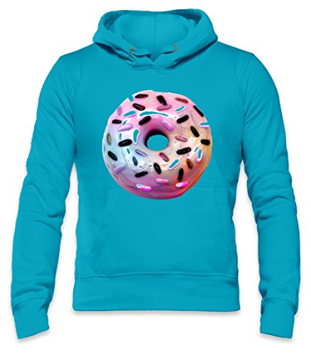 Pink Donut Mens Hoodie Small