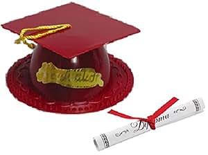 Maroon Graduation Cap Cake Topper