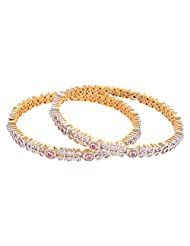 Creation Jewellery Gold Rhodium Plated Gold Plated Bangle For Women - B00Z9T4Y8Q