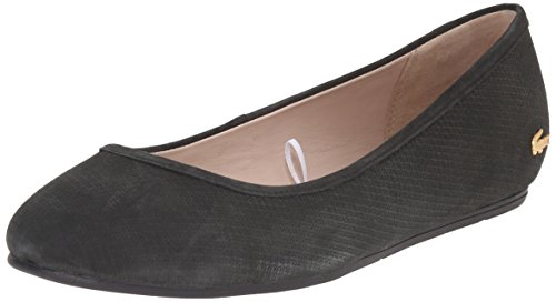 Lacoste Women's Cessole 116 2 Ballet Flat, Black, 7.5 M US