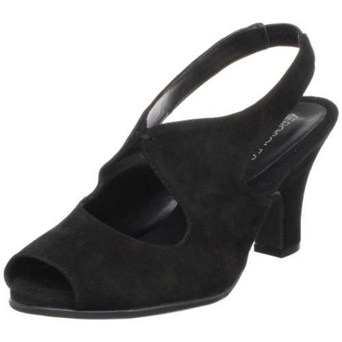 Aerosoles Women's Ginesis Open-Toe Pump,Black Suede,10 M US