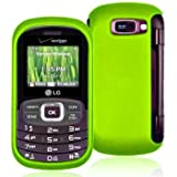 Importer520 Rubberized Snap-On Hard Skin Protector Case Cover for For (Verizon) LG Octane VN530 - Neon Green