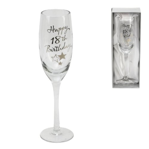 Personalised Juliana Happy 18th Birthday Champagne Glass Flute in Gift Box G31918 - Add Your Own Message