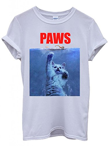Unisex Funny Paws Cat Jaws Parody T-shirt - S to XXL