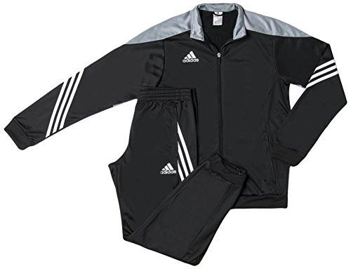 Adidas Sere14 Pes Suit Tuta da Ginnastica, Nero / Argento / Bianco, L