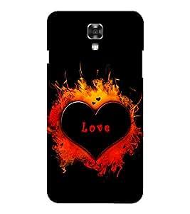 EPICCASE heart in fire Mobile Back Case Cover For LG X Power (Designer Case)