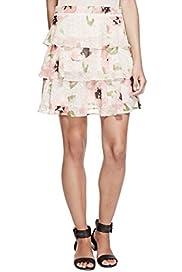 Floral Layered Mini Skirt [T69-2001J-S]