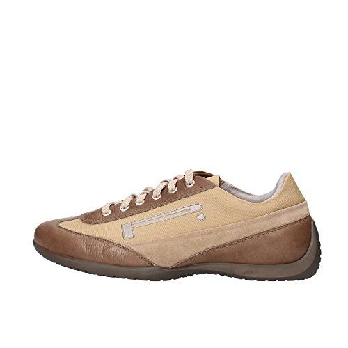 PIRELLI sneakers uomo 41 EU marrone beige pelle camoscio tessuto AF177