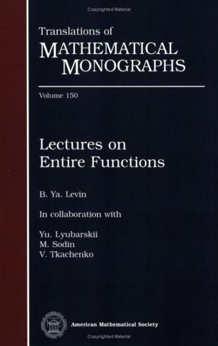 Lectures on Entire Functions