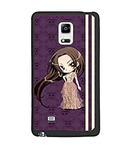 PrintDhaba Long Hair Doll D-4810 Back Case Cover for SAMSUNG GALAXY NOTE 4 (Multi-Coloured)