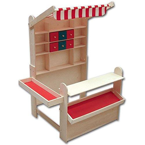 Roba Kaufladen Aus Holz Inklusive KaufladenzubehOr ~ fr r plaho plaho kaufladen 6040 mit markise hochwertiger kaufladen